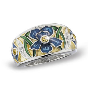 The Concorde Collection Jeweled Iris Ring Genuine