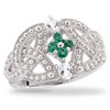 Celtic Love Knot Emerald Ring